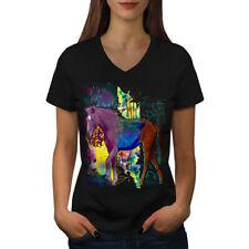 Creative Horse Fantasy Women V-Neck T-shirt NEW   Wellcoda