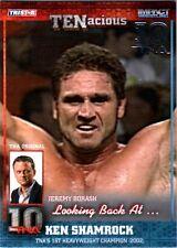 TNA Ken Shamrock #4 2012 TENacious SILVER Parallel Card SN 7 of 30