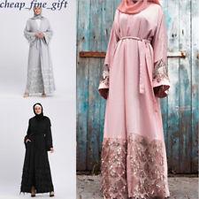 Women Sequin Dress Kimono Cardigan Dubai Tunic Gown Hijab Muslim Long Abaya Lot