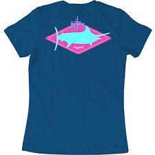 Guy Harvey Ladies Girls Forever Diamond S/S T-shirt. Pick Size..XS-XL..Cool Blue
