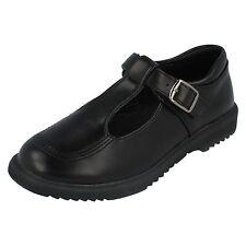 Niña H2433 Sintético Negro Barra T Escuela Zapato por Cool 4 School