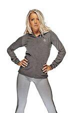 BG Lightweight Hoodie - Charcoal - Bad Girl Ladies Fitness Top Gym casual Wear