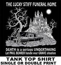 FUNERAL PALLBEARER UNDERTAKER GRAVE DEATH SKELETON HEARSE SKULL TANK TOP SHIRT