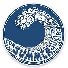 2 X Hawaii Wave Tabla De Surf Etiqueta Auto Moto Laptop calcomanía surfista verano divertido # 9217