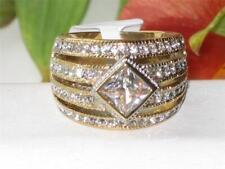1551 PRINCESS BEZEL stainless STEEL BASE DESIGNER gold simulated diamonds