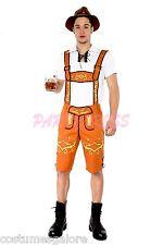 MENS Costume Dress Up German Beer Lederhosen Oktoberfest Bavarian 215b Sz S-3XL