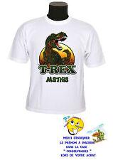 tee shirt enfant t-rex dinosaure personnalisable prénom réf 147
