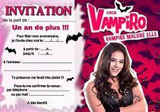 5 ou 12 cartes invitation anniversaire chica vampiro REF 325