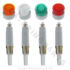 10 mm, Lámpara de neón con Lente Transparente Verde Ámbar Rojo Elige Color 4,8 mm push-fit picas
