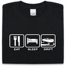 EAT SLEEP DRIFT T-Shirt Uomo Donna Divertente Regalo Auto Track JDM Racing