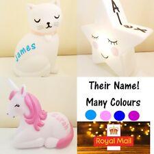 🔥Sass & Belle Kids Childrens Night Light Personalised Gift Lamp Nursery Bedroom