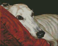 Diagramme point de croix-Kit Chien Greyhound-Home enfin