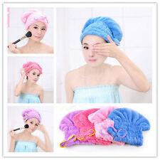 Fast Dry Microfiber Bowknot Hair Towel Turban Head Wrap Bath Cap Super Absorbent