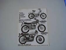 advertising Pubblicità 1976 MALANCA 125 SCRAMBLER/SPORT