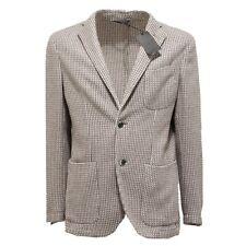 92785 giacca GENIALI COTONE LANA giacche capo spalla uomo jacket men