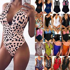 Women Tummy Control Bodysuit Swimwear Costume Ladies One Piece Monokini Swimsuit
