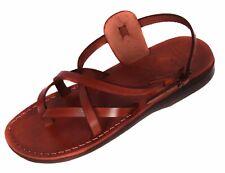 Camel Jesus Sandals Brown Genuine Leather Greek Roman For Men US 5-12 EU 36-46
