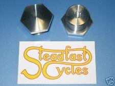 NORTON Aluminum alloy shallow Fork caps top nuts Atlas Commando Alloy