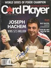 "Joseph Hachem 2005 CardPlayer Mag Signed Auto ""PROOF"""