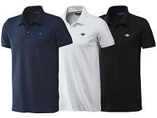 New Mens Adidas Originals Pique Polo Shirt T-Shirt Top - Navy Blue, White, Black