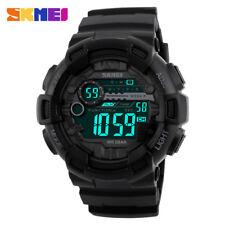SKMEI Men Digital Wristwatch Fashion LED Light Sport Watches Rubber Strap Watch