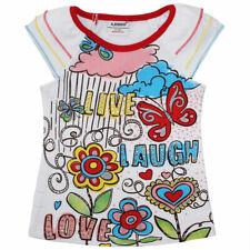 Mädchen T-Shirt LIVE LAUGH LOVE Strass-Steine weiss Gr. 86 92 98 104 110 116 NEU