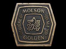 MJ25165 VINTAGE 1977 **MOLSON GOLDEN ALE BIERE** BEER BELT BUCKLE