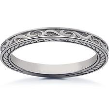 Vintage Scroll Sophia Wedding Ring Platinum or 14k Rose, White, Yellow Gold