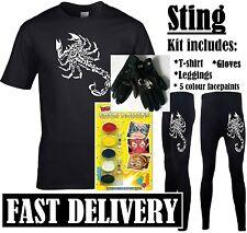 STING FANCY DRESS 90S RETRO SPORTS WRESTLER WRESTLING COSTUME KIT