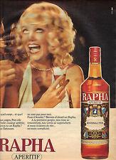PUBLICITE  1975    RAPHA    apéritif de RIVESALTES vin