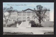1910s High School Chippewa Falls WI Chippewa Co Postcard Wisconsin