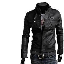 Giacca Giubbotto in Pelle Uomo Men Leather Jacket Veste Blouson Homme Cuir N6d