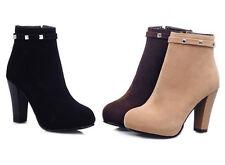 botas invierno cómodo zapatos de tacón mujer 9 cm como ante 8764