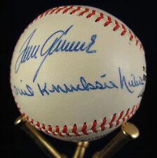 Carlton Seaver Wynn Niekro Perry 300 Wins Autographed Baseball COA SUPER RARE!