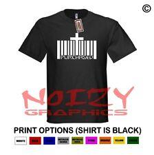Purchased Cross UPC Christian Shirt Black T-Shirt Faith Blessed Religious Jesus