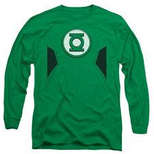 JLA New Green Lantern Costume Mens Long Sleeve Shirt Kelly Green