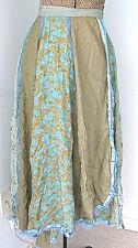 Vintage 1970's super full wrap paneled hippie skirt birds & lace