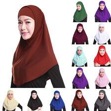 Mujer Islámico Liso AMIRA Hijab muslima PAÑUELO PARA CABEZA dos piezas TOCADOS