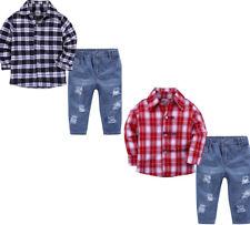 2pcs Toddler Infant Kids Baby Boys Clothes Shirt Tops +Jeans Pants Outfits Set