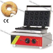Commercial Nonstick Electric 15pcs 5cm Mini Donut Maker Doughnut Baker Machine