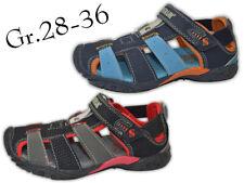 Jungen Sandalen NEU Leder-Optik Outdoor Sandalette Trekking @2464