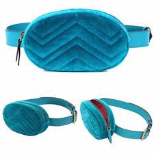 Women Velvet Ellipse Waist Belt Pouch Fanny Pack Key Purse Travel Bag Wallet NEW