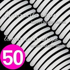 50 Pcs Nail Art Sanding Files Buffing GREY Curve Manicure Salon Tool #100 #180