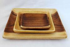 Square Wooden Plate Acacia Wood Fair Trade Dish Plate Wood
