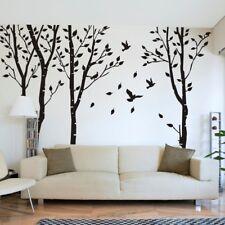 Winter Tree Birch Wall Sticker Bird Nursery Room Vinyl Art Removable Decor Large