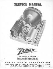 Zenith Television Receivers Service Manuals Volume 1 * CDROM * PDF * TV Repair