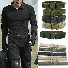 Herren Armee Militär Taktischer Gürtel Tactical Belt Nylon Metallschnalle DE