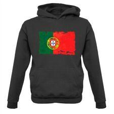 Portogallo Grunge Stile Bandiera - Bambini Felpa Portoghese Lisbona Mondo Paese