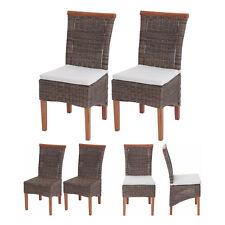 2x Esszimmerstuhl Savona, Stuhl Lehnstuhl, Rattan mit oder ohne Sitzkissen