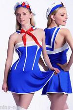SAILOR COSTUME fancy dress ladies costume Strapless Dress 4 piece size Med 10-12